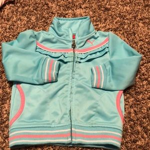 Baby blue and pink puma track jacket